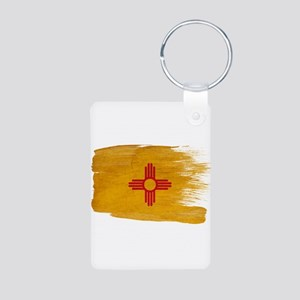 New Mexico Flag Aluminum Photo Keychain