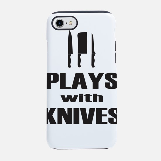 Plays with Knives Cooking Chef iPhone 7 Tough Case