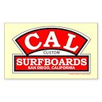 Cal Custom Surfboards Rectangle Sticker