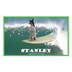 Stanley The Surfing Rat Terror Sticker (Rect)