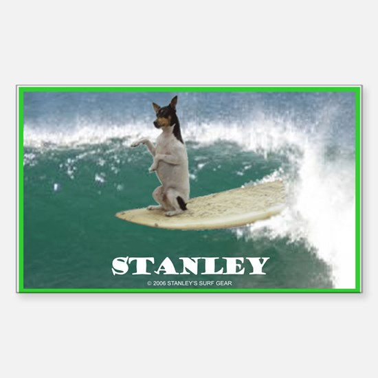Stanley The Surfing Rat Terror Sticker (Rect)