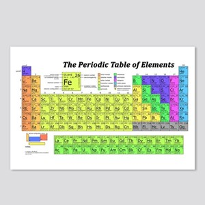 Periodic Table of Element Postcards (Package of 8)