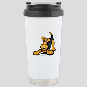 Airedale at Play Stainless Steel Travel Mug