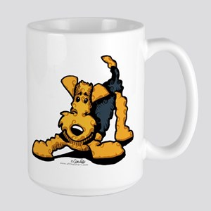 Airedale at Play Large Mug