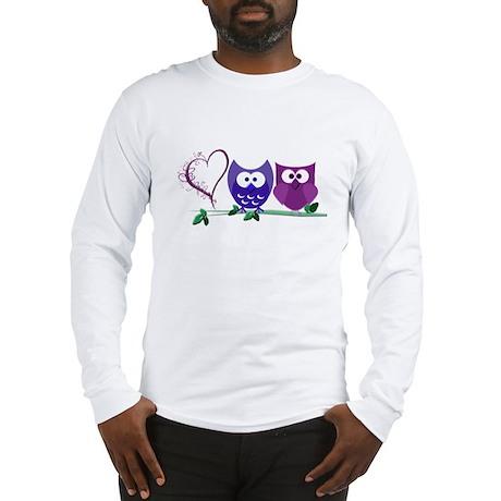 Romantic Cute Owls Long Sleeve T-Shirt