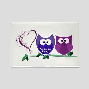 Romantic Cute Owls Rectangle Magnet
