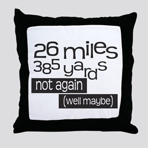 Funny 26.2 Marathon Throw Pillow