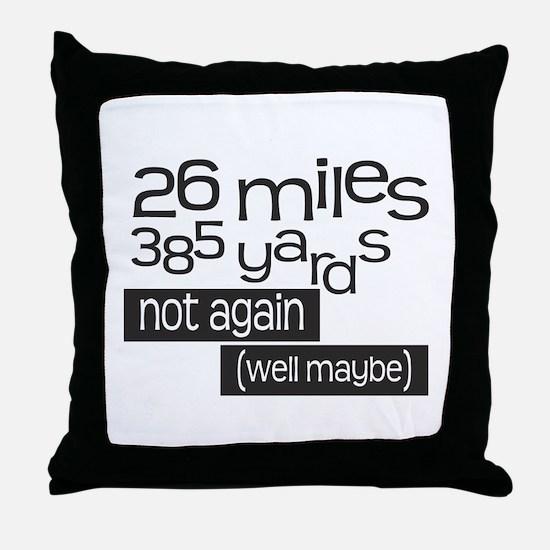 Funny 26.2 Marathon Throw Pillow