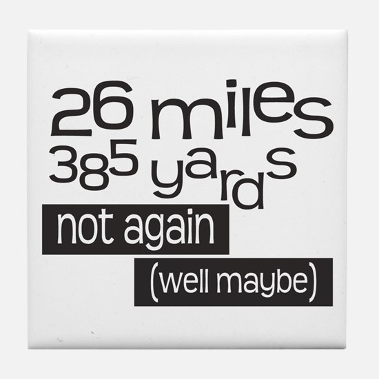 Funny 26.2 Marathon Tile Coaster