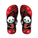 Kawaii Oreo the Panda Flip Flops