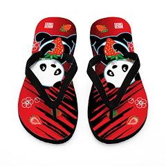 Kawaii Oreo the Panda Flip Flops