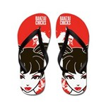 Kawaii Coco the School Girl Flip Flops