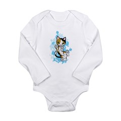 Cally the Calico Cat Long Sleeve Infant Bodysuit