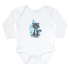 Mr. Pook the Tabby Cat Long Sleeve Infant Bodysuit