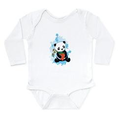 Oreo the Panda Bear Long Sleeve Infant Bodysuit