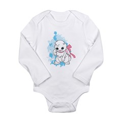 Snowball the Bunny Long Sleeve Infant Bodysuit