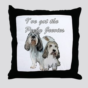 Two Pbgv's Throw Pillow