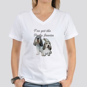 Two Pbgv's Women's V-Neck T-Shirt
