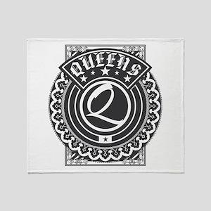 Queens Logo Throw Blanket