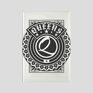 Queens Logo Rectangle Magnet