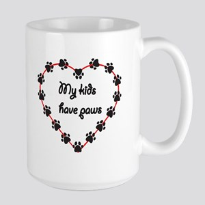 My Kids have Paws Large Mug
