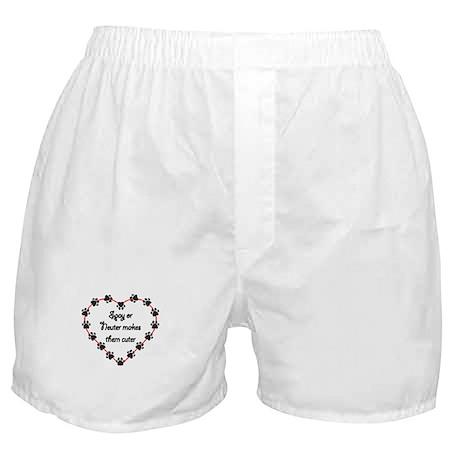 Spay or Neuter makes them Cuter Boxer Shorts