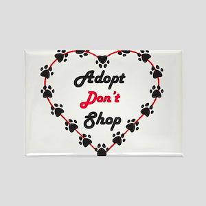 Adopt Don't Shop Rectangle Magnet