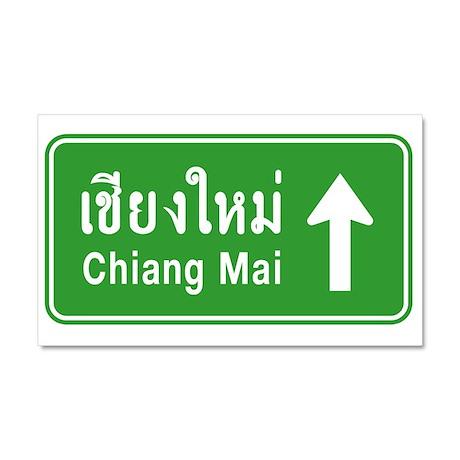 Chiang Mai Thailand Traffic Sign Car Magnet 20 x 1