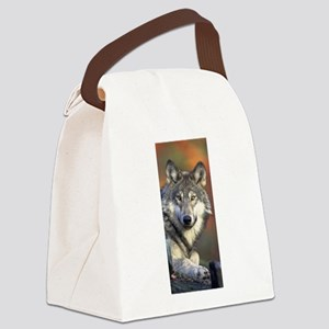 Wolf 024 Canvas Lunch Bag