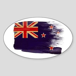 New Zealand Flag Sticker (Oval)