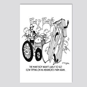No More Cow Tipping Postcards (Package of 8)