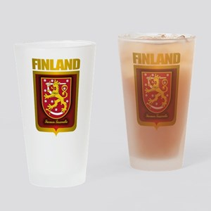 """Finnish Gold"" Drinking Glass"