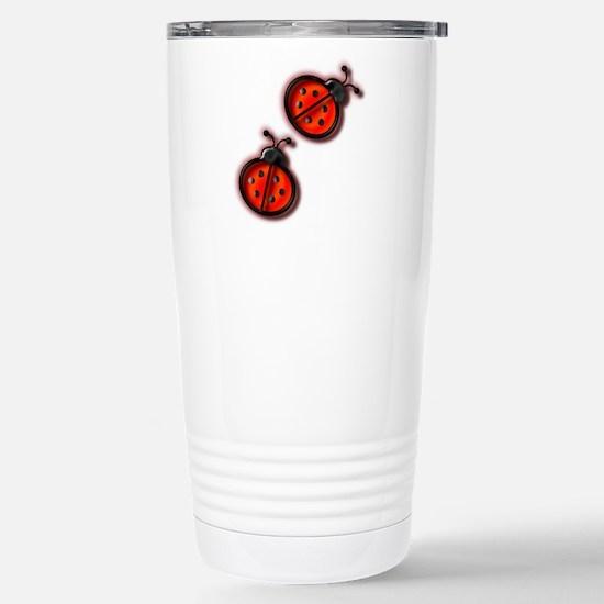 Lady Bugs Stainless Steel Travel Mug