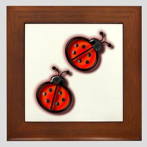 Lady Bugs Framed Tile