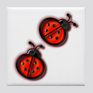Lady Bugs Tile Coaster