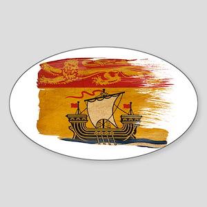 New Brunswick Flag Sticker (Oval)