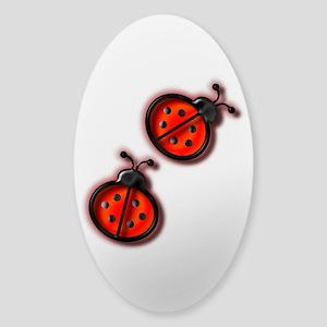 Lady Bugs Sticker (Oval)
