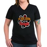 Beagle Women's V-Neck Dark T-Shirt