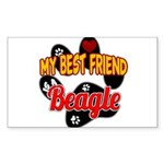 Beagle Sticker (Rectangle)