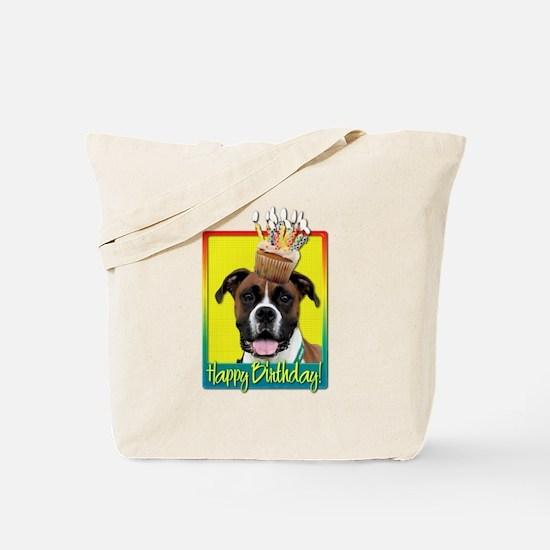 Birthday Cupcake - Boxer Tote Bag