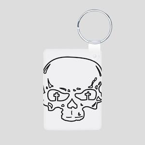 GFR Aluminum Photo Keychain - Skull (white)