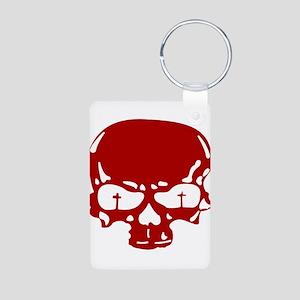 GFR Aluminum Photo Keychain - Skull (red)