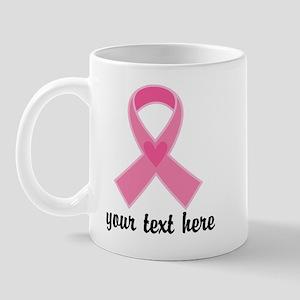 Personalized Breast Cancer Ribbon Mug