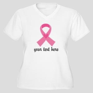 Personalized Breast Cancer Ribbon Women's Plus Siz
