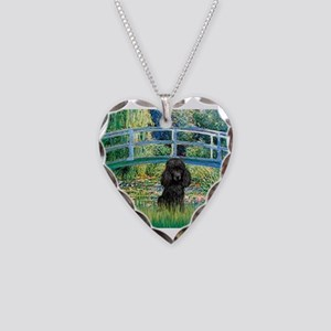 Bridge / Poodle (Black) Necklace Heart Charm