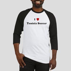 I Love Tunisia Soccer Baseball Jersey