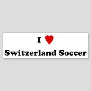 I Love Switzerland Soccer Bumper Sticker