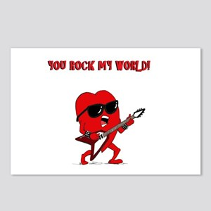 Rock And Roll Valentine Postcards (Package of 8)