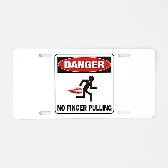 Finger Aluminum License Plate
