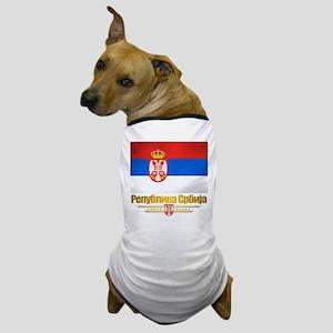 """""""Serbian Flag"""" Dog T-Shirt"""